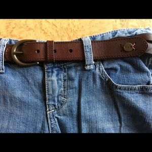 Abercrombie & Fitch A&F Leather Braided Belt